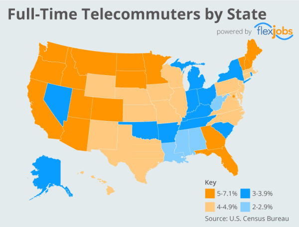 2015-map-Full-Time-Telecommuters-by-State-by-FlexJobs-600x-400