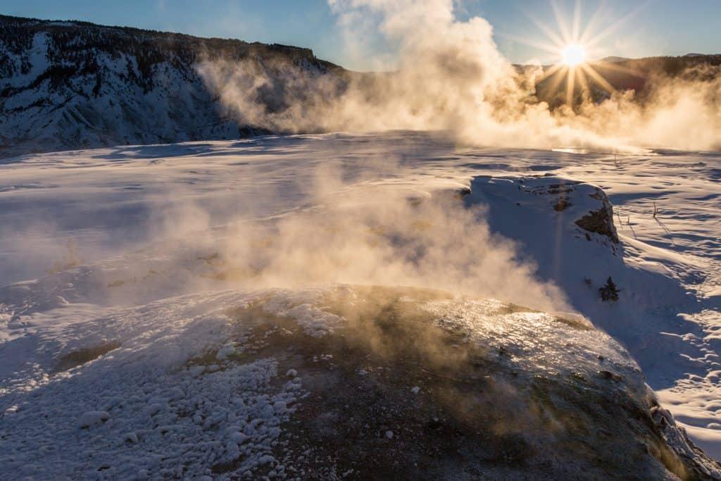 Sunrise, Mammoth Hot Springs